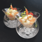 Ceviche of Scallops  and salmon