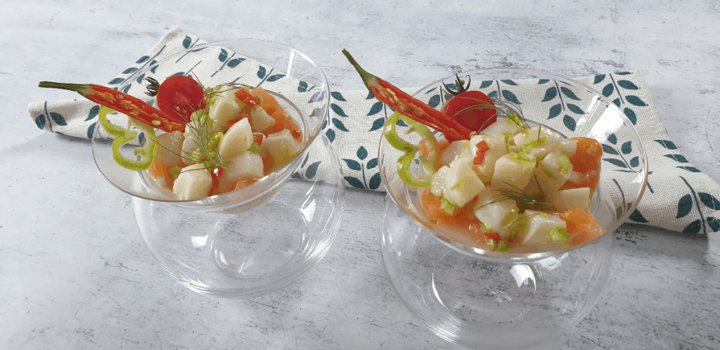 Ceviche in glass