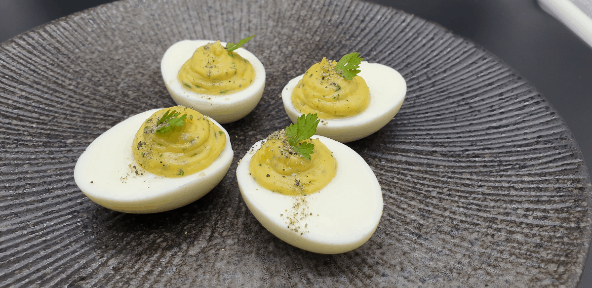 4 classic devilled eggs