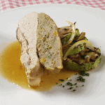 Stuffed chicken breast with lemon confit & olives