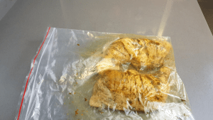 chicken in plastic bag