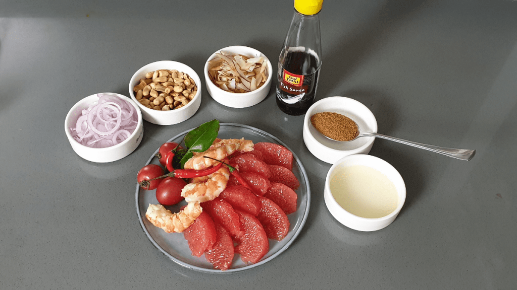 ingredients for grapefuit salad