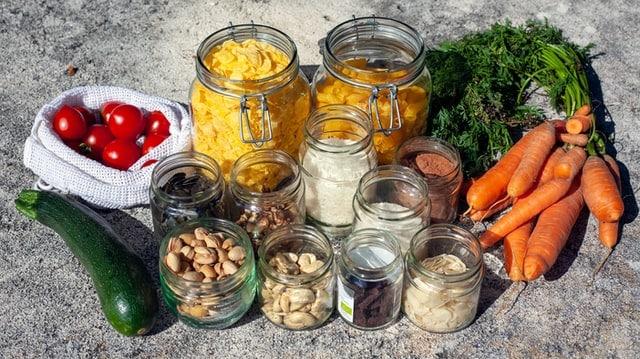 glass jars meals