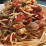 Spaghetti with clamsmato sauce