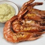 Grilled prawns with original aïoli