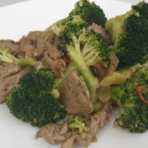 stir fried brocolli
