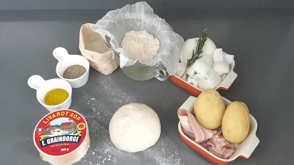 ingredients of pizza livarot