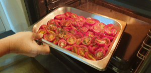 tomatoes in oven