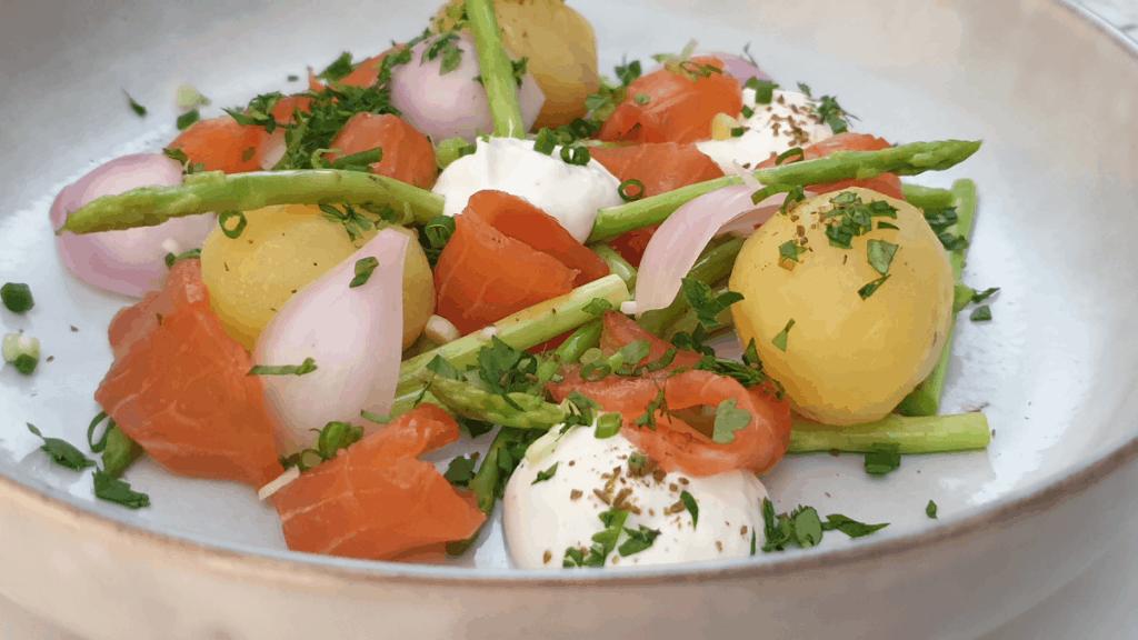 instant smoked salmon dish