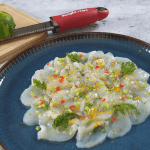 Carpaccio of scallops with exotic flavours