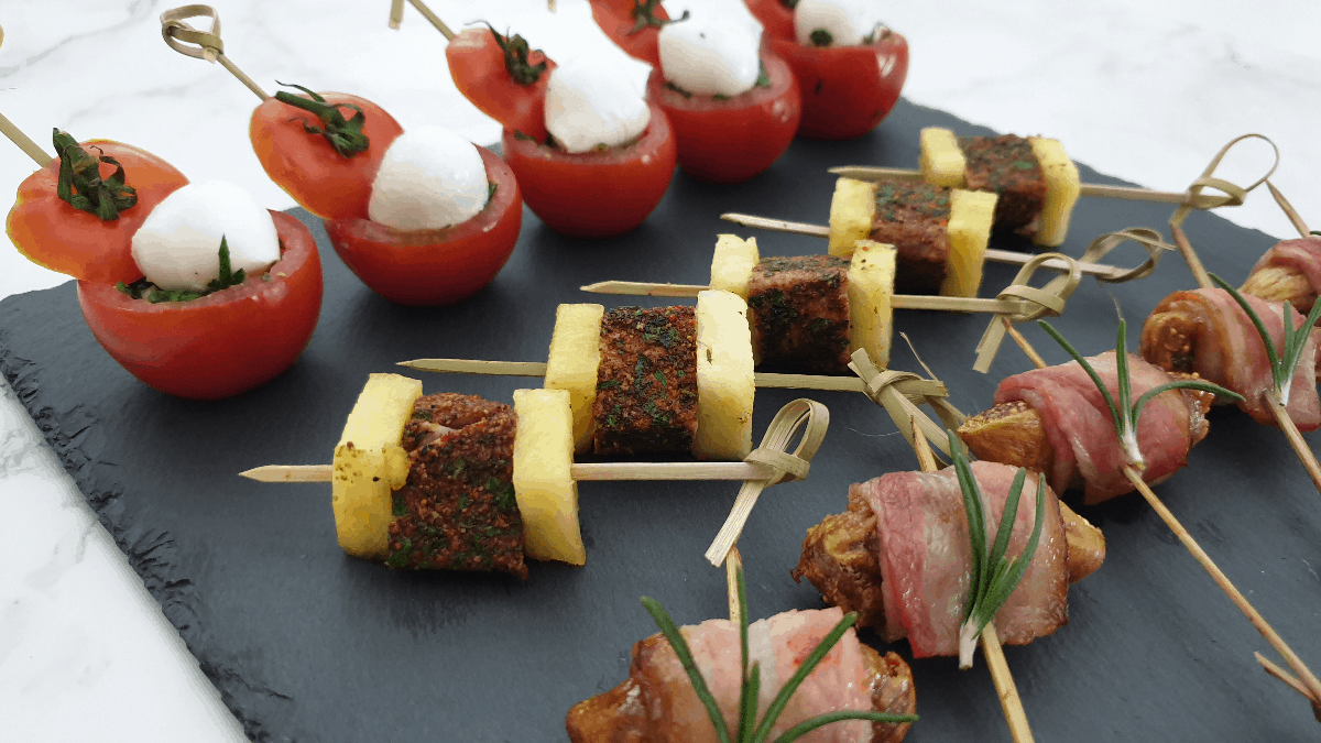 trio of finger food