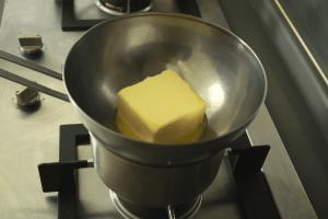 melting butter for clarified butter