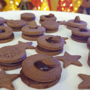 festive chocolate cookies