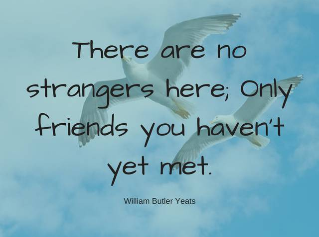 expat life strangers are friends to be