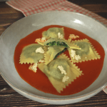 Traditional ricotta and spinach Ravioli