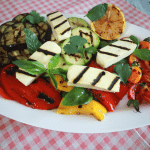 Mediterranean Grilled Halloumi Salad