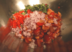ingredients for cherry salsa