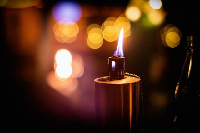 tiki torches