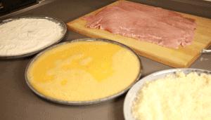 preparation to bread veal escalope